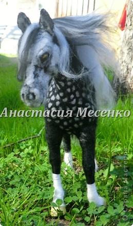 Авторская художественная работа в технике сухого валяния, лошадь(4-я работа на заказ) фото 3