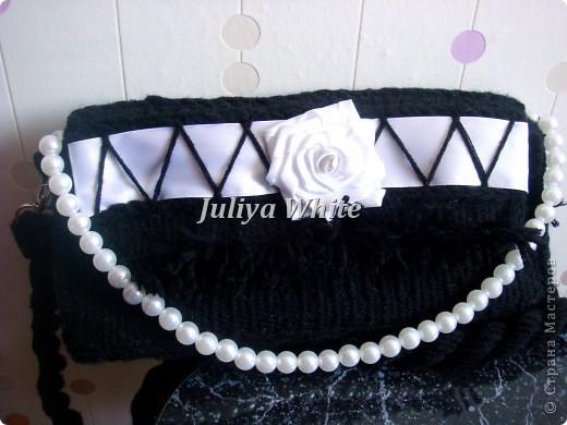 """Тканая сумка """"white rose"""" (гобелен) фото 1"""