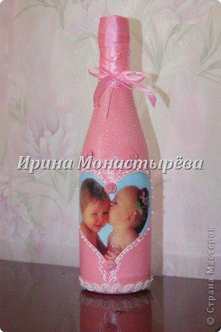 Бутылка на рождение ребёнка фото 1
