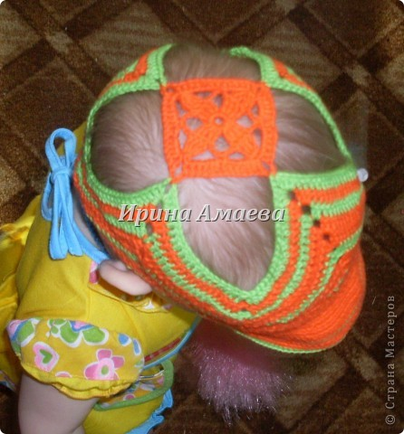 вот такой сарафанчик с кепочкой я связала на лето для дочурки фото 5