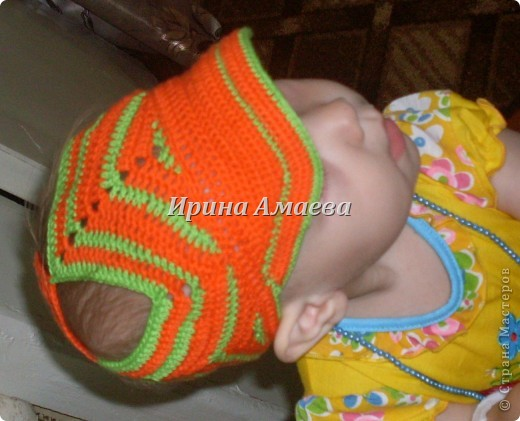 вот такой сарафанчик с кепочкой я связала на лето для дочурки фото 4