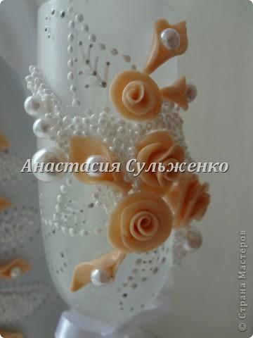 Мой первый заказ набором))) Попросили сделать нежным, под цвет платья айвори! фото 4