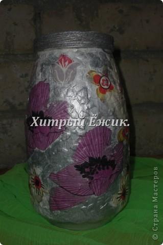 Мои декупажированные баночки-вазы фото 2
