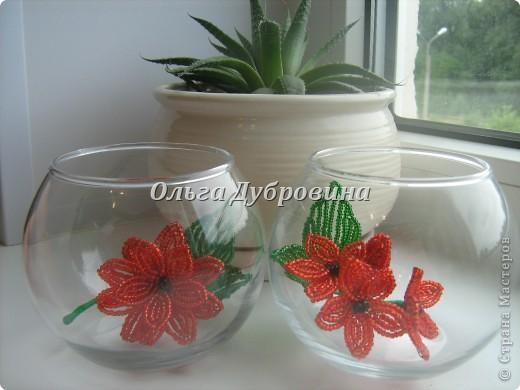 Давно хотела сплести цветы для такой вазы. Вот что получилось.  фото 1