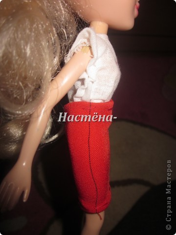 Вот моё первое платье для куклы барби. Вид спереди. фото 2
