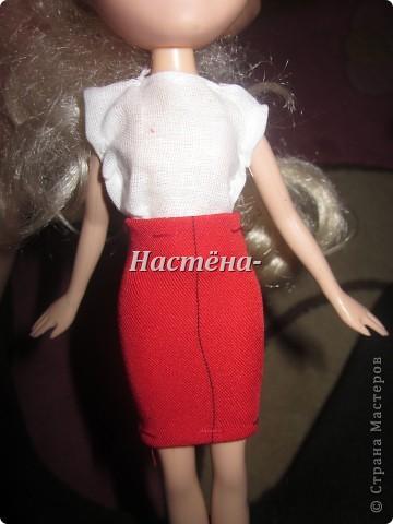 Вот моё первое платье для куклы барби. Вид спереди. фото 1