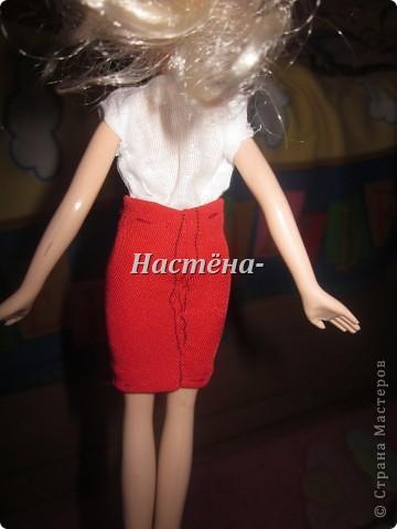 Вот моё первое платье для куклы барби. Вид спереди. фото 3