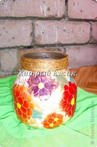 Мои декупажированные баночки-вазы фото 3