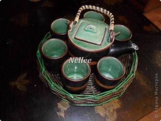 Вот такой чайный набор я сотворила. Очень люблю разглядывать у мастеров и мастериц фото процесса работы, поэтому тоже выкладываю свои, может кому-то тоже интересно)))  фото 12