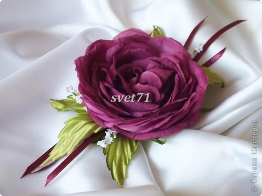 Староанглийская роза(шелк) фото 3
