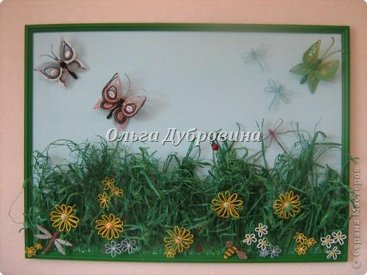 Размер 50 на 70 см. Всё из бисера, кроме травы. Трава - рафия натуральная, выкрашенная в изумрудный цвет. фото 1