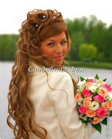свадебные прически с накладными прядками