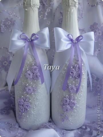 Свадебный набор в нежно сиреневом цвете. фото 2