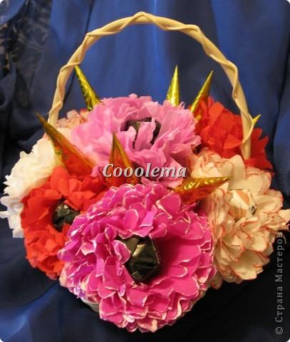 Всем привет! Продолжаю опыты в свит-дизайне... Первая корзинка - с пиончиками, спасибо Ольге RODI (http://stranamasterov.ru/node/351268?c=favorite) фото 2