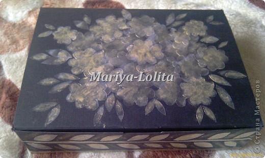 Шкатулка из коробки от сотового тел. фото 1