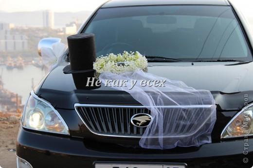 Свадебное украшение на машину фото 1