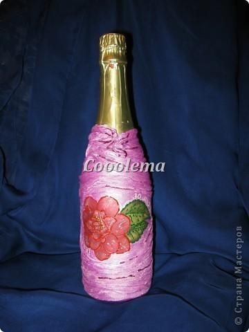 Сделала такую бутылочку с чулком (пробовала впервые, не очень понравилось) фото 1