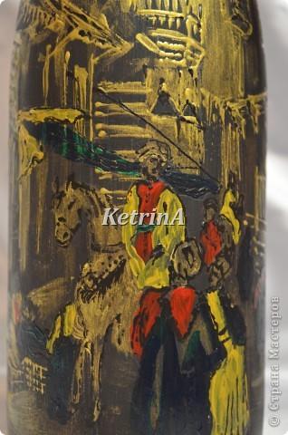 Изобразила столицу Египта - город Каир. Из-за круглой формы бутылки очень трудно передать всю картину в целом. фото 3