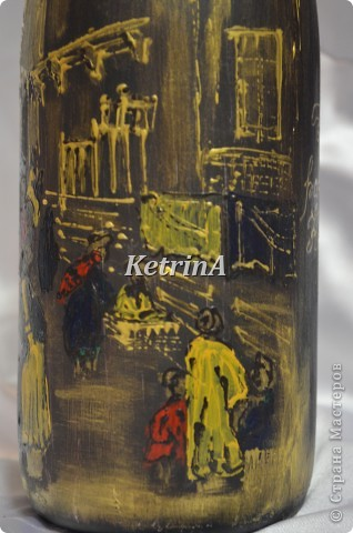 Изобразила столицу Египта - город Каир. Из-за круглой формы бутылки очень трудно передать всю картину в целом. фото 4
