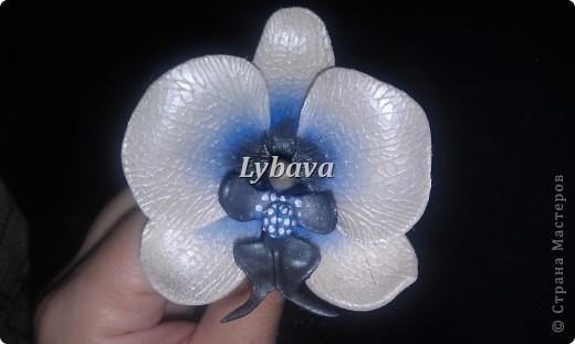 Ну вот, мои хорошие, я наконец то решила выставить свои новые работы и не очень новые. Эту орхидею сделала в подарок учительнице. На память, так сказать. Все таки ж уезжаем.......  фото 11