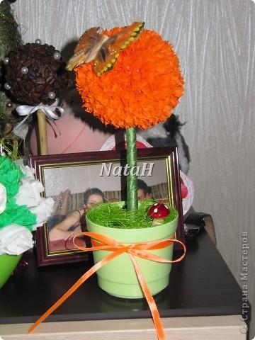 """Вот такой """"апельсинчик"""" получила моя коллега ко Дню Рождения, это одна из первых работ в технике торцевание, мне нравится, а ВАМ??? фото 1"""