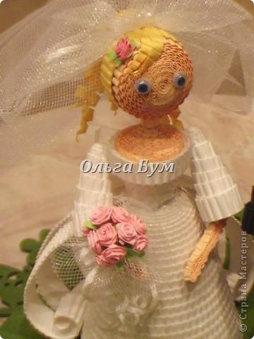 Впервые сделала куколок жениха и невесты. Попросили. Заказчице понравились. А со свадьбы пока отзывов не знаю. Надеюсь мои куколки добавили им капельку веселья! фото 8