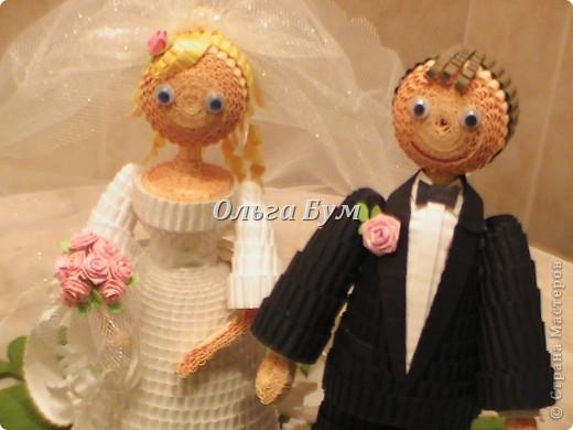 Впервые сделала куколок жениха и невесты. Попросили. Заказчице понравились. А со свадьбы пока отзывов не знаю. Надеюсь мои куколки добавили им капельку веселья! фото 3