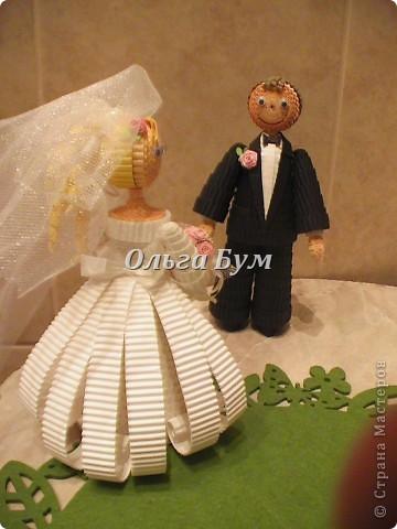 Впервые сделала куколок жениха и невесты. Попросили. Заказчице понравились. А со свадьбы пока отзывов не знаю. Надеюсь мои куколки добавили им капельку веселья! фото 4