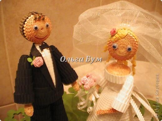 Впервые сделала куколок жениха и невесты. Попросили. Заказчице понравились. А со свадьбы пока отзывов не знаю. Надеюсь мои куколки добавили им капельку веселья! фото 14
