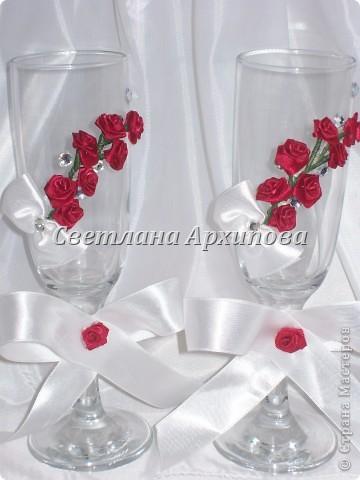 Бокалы для нас с мужем на 7-ую годовщину со дня свадьбы. фото 2