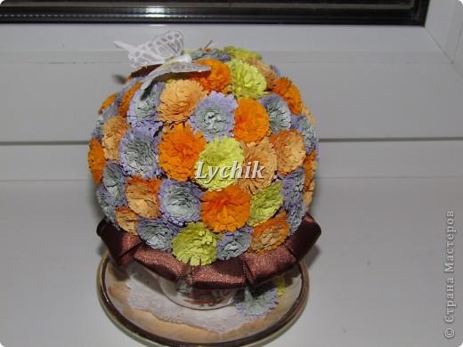Добрый вечер, дорогие Мастерицы!! Вот решила сделать к кофейному деревцу еще и квиллинговые цветочки и конечно же розы (куда ж я без них!! ;)) ) фото 3
