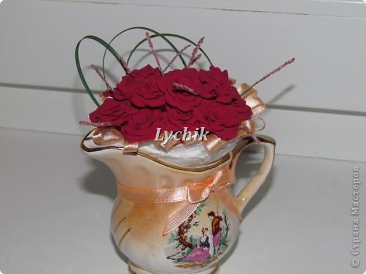 Добрый вечер, дорогие Мастерицы!! Вот решила сделать к кофейному деревцу еще и квиллинговые цветочки и конечно же розы (куда ж я без них!! ;)) ) фото 6