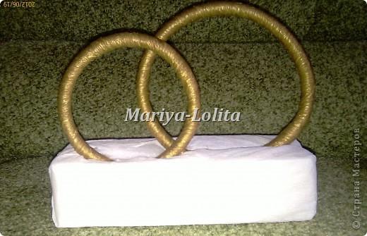 Свадебные кольца на стол ( МК ) фото 7
