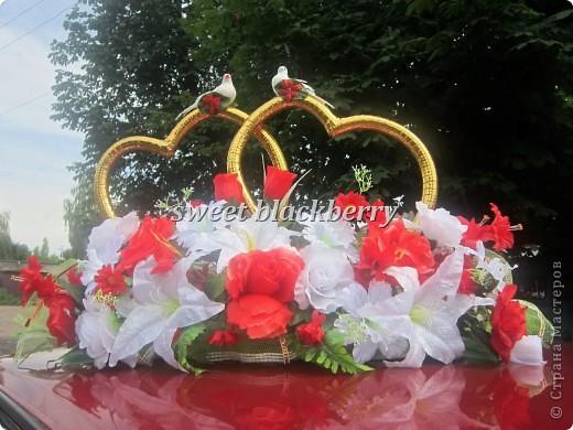 Сердца на свадебный автомобиль фото 3