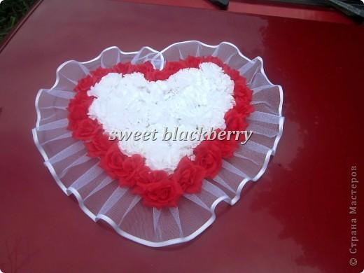 Сердца на свадебный автомобиль фото 4