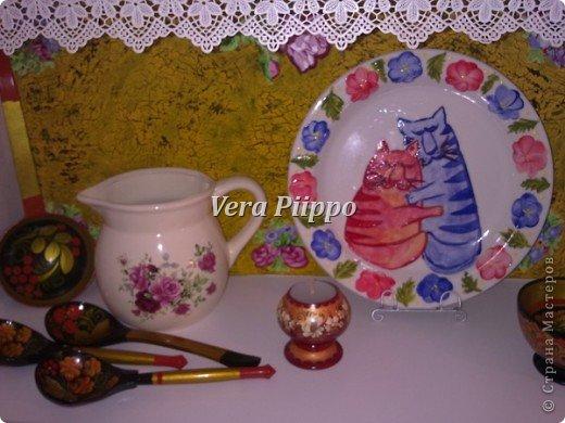Роспись посуды. Мои котейки. фото 2