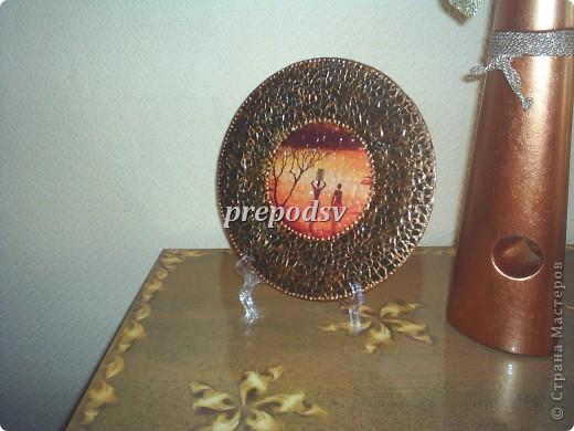 Африканская тарелка с кракле. фото 1