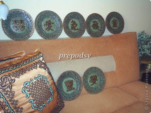 Африканская тарелка с кракле. фото 14