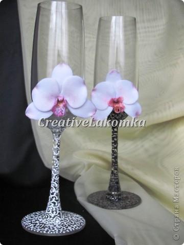 Свадебные бокалы  фото 6