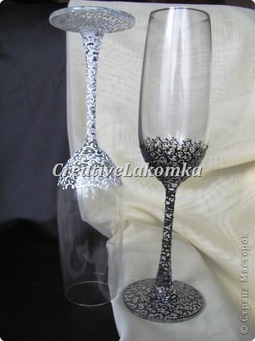 Свадебные бокалы  фото 8