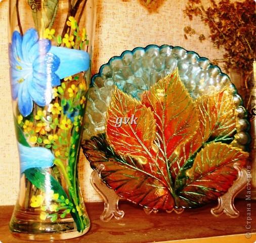 Роспись акриловыми и витражными красками по стеклу. фото 1