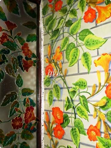 Роспись акриловыми и витражными красками по стеклу. фото 9
