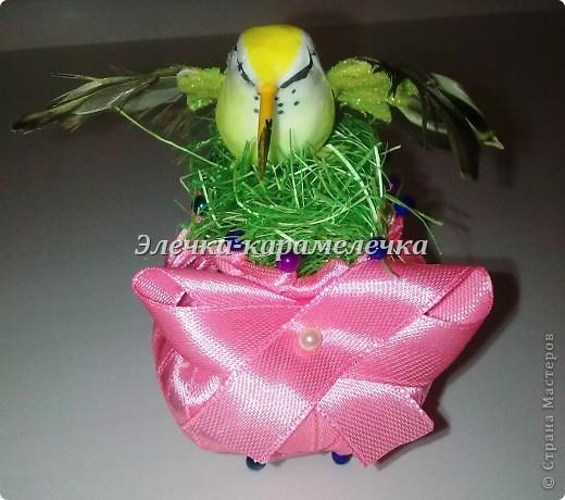 Доброе утро жители СМ!!! Мои подарочки уже получены, сюрпризы сделаны, поэтому выставляю их вам на показ!!!! Это гнездышко с птичкой--кто то даже назвал --семейный очаг--в оранжевой цветовой гамме--подарена Н а т е --в ее любимой цветовой гамме!!!!! фото 4