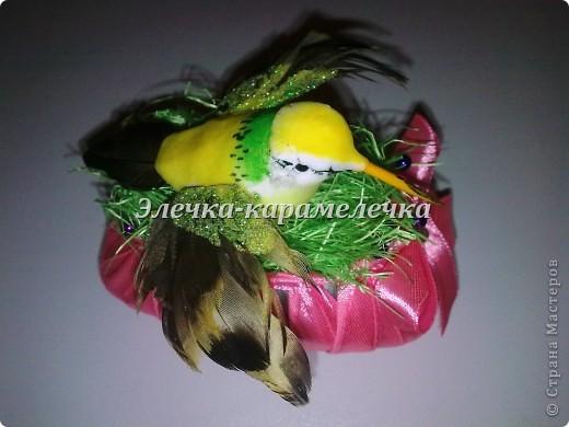 Доброе утро жители СМ!!! Мои подарочки уже получены, сюрпризы сделаны, поэтому выставляю их вам на показ!!!! Это гнездышко с птичкой--кто то даже назвал --семейный очаг--в оранжевой цветовой гамме--подарена Н а т е --в ее любимой цветовой гамме!!!!! фото 3