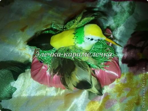 Доброе утро жители СМ!!! Мои подарочки уже получены, сюрпризы сделаны, поэтому выставляю их вам на показ!!!! Это гнездышко с птичкой--кто то даже назвал --семейный очаг--в оранжевой цветовой гамме--подарена Н а т е --в ее любимой цветовой гамме!!!!! фото 5