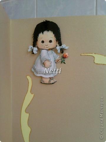Эту открытку я сделала для одной девушки на ее небольшой юбилей. фото 8