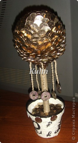 вот такое серебряное деревце...с монетками на счатье... фото 1