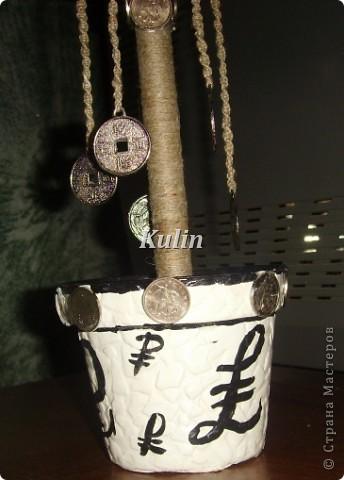 вот такое серебряное деревце...с монетками на счатье... фото 2
