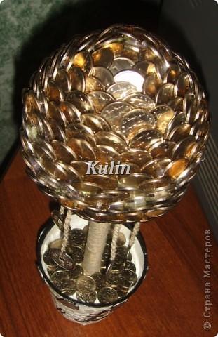 вот такое серебряное деревце...с монетками на счатье... фото 4