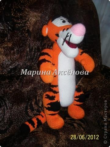 Игрушка Вязание крючком Тигра